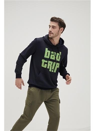 Bad Bear Erkek Hakısweatshirt Keep Wild Hoodie Lacivert
